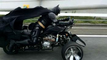 千葉ッマンと呼ばれているバットマンの走行写真 He is called chiBatman and the photo was taken by somebody