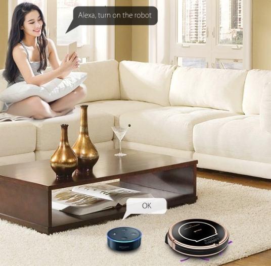 Amazon Alexa supported Robot Vacuum Cleaner