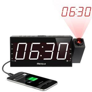 Mesqool AM/FM Dimmable Clock