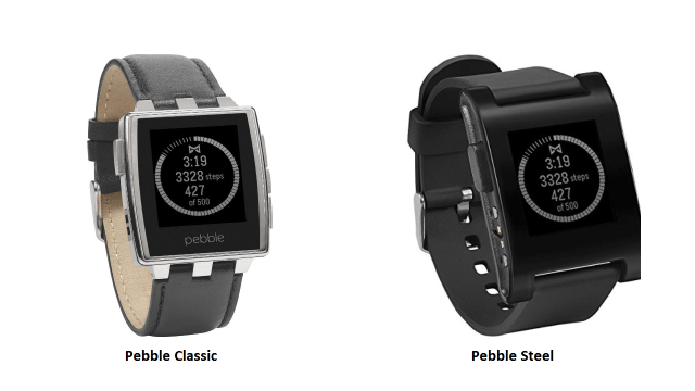 Pebble Classic And Pebble Steel
