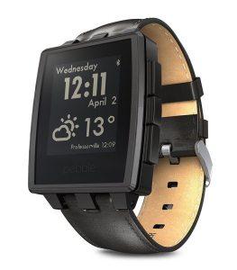 Pebbles steel smartwatch