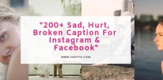 sad caption for instagram facbook