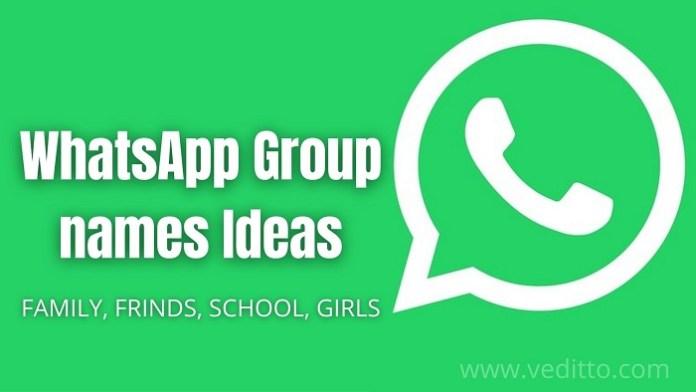 WhatsApp Group name ideas