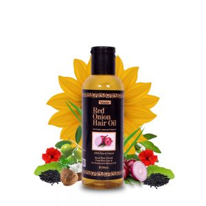 RED ONION HAIR OIL | FOR HAIR GROWTH WITH PURE ARGAN OIL, BHRINGRAJ, AND ALMOND OIL