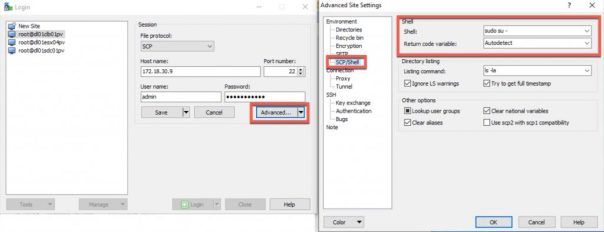 Winscp elevate to root