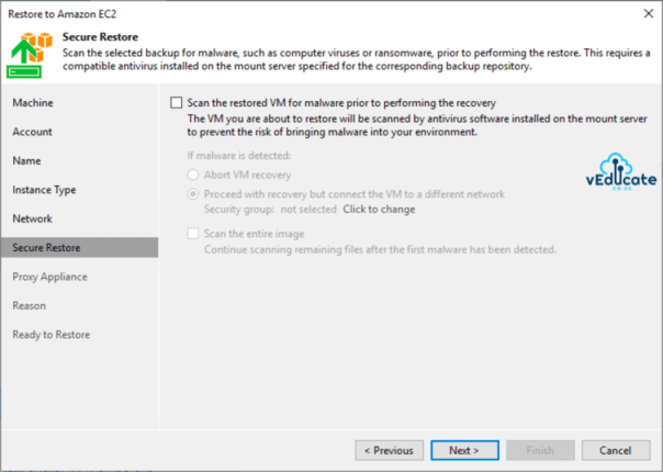 Veeam Backup for Azure Integration with Veeam Backup and Replication Restore to Amazon EC2 Secure Restore