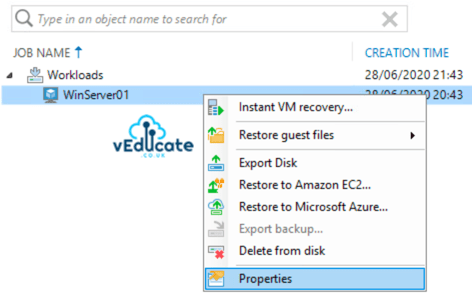 Veeam Backup for Azure Integration with Veeam Backup and Replication View External Repository Restore Options