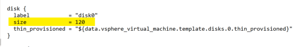 Deploy OpenShift VMware Static IP Terraform edit machine main.tf disk size
