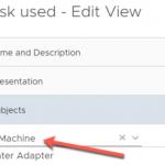 VM Growth List Create view Subjects vCenter Adapter Virtual Machine