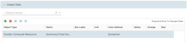 Create Dashboard - Edit Sparkline Widget - Output Data add Metric - Metric selected
