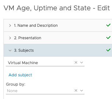 View VM Age Uptime and State subjects virtual machine