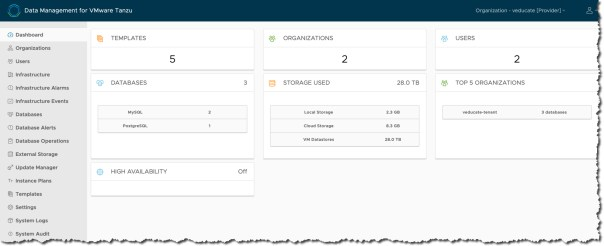 Data Management for Tanzu Provider Home Page