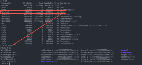 kubectl exec pod - working deploying - files on disk