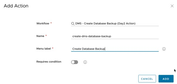 vRA - Cloud Assembly - Custom Resources - Create New Custom Resource - Day 2 action