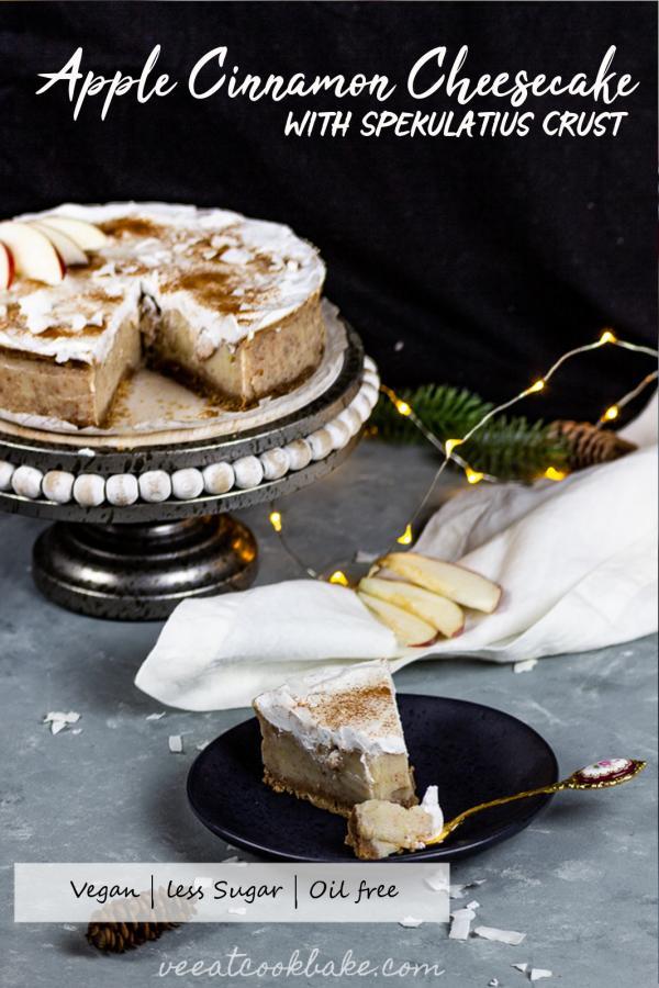 vegan apple cinnamon cheesecake