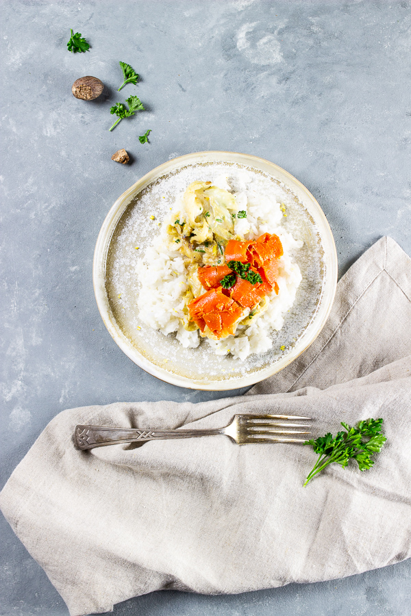 vegan savoy cabbage and carrot lox