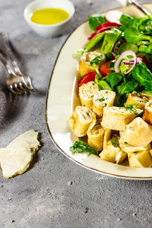 vegan-spring-salad-with-crepe-pinwheels