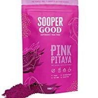 Drachenfrucht pulver by Soopergood - 100% Pinkes Pitaya pulver - 100g - Naturell - Vegan -