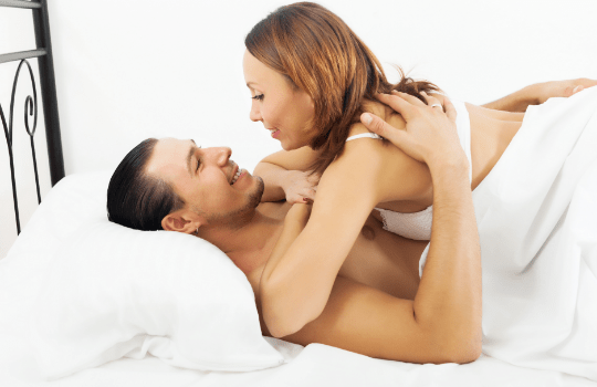 hispanic couple having great sex involving foreplay