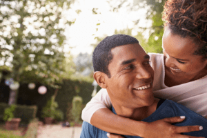 couple who is happy about their healthy sex life