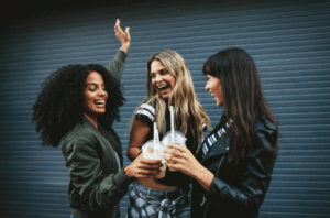 women celebrating treating BV