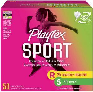 playtex sport tampons box
