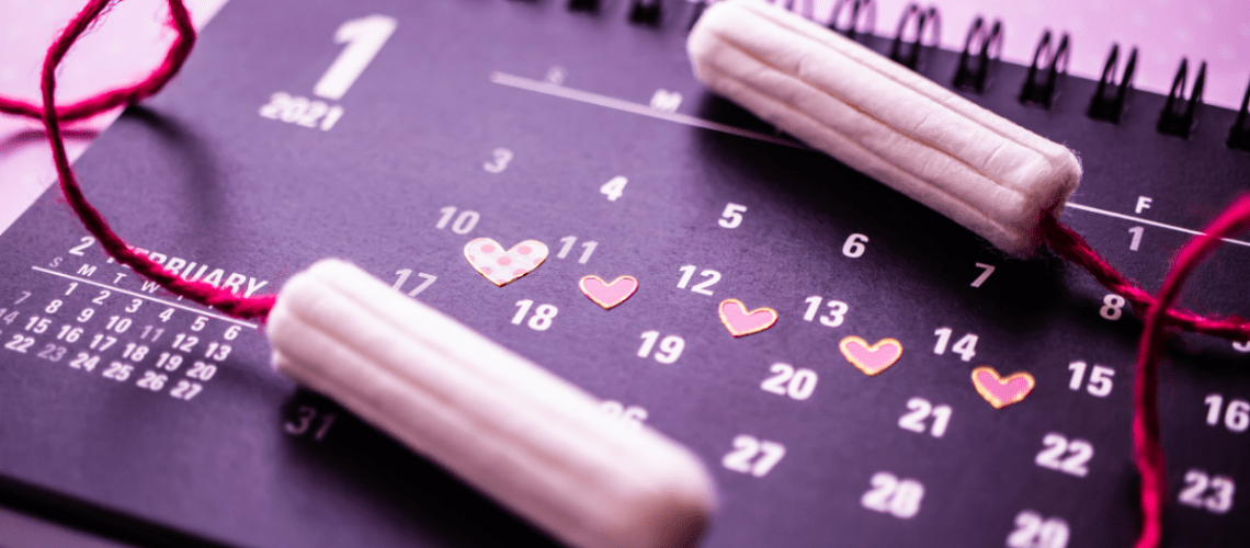 period products on a calendar