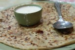 The best of combinations... Aloo paratha and curd