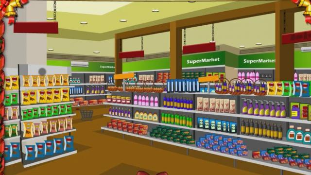knf lovely living room escape walkthrough best colors for 2017 grocery supermarket play the free game online