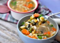 Chunky Vegetable Noodle Soup