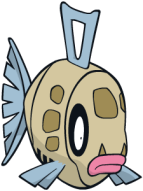 The fish Pokémon Feebas, in all its sad, dingy glory.