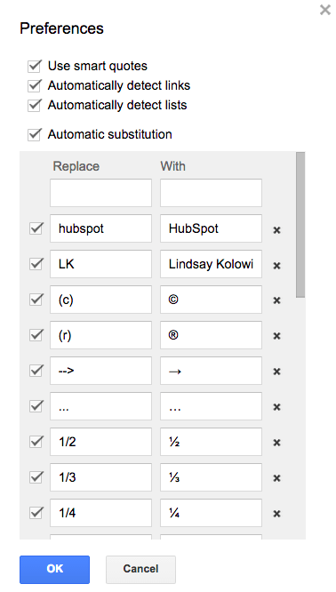 "How to create your own keyboard shortcuts and macros in a Google Doc"" srcset=""https://blog.hubspot.com/hs-fs/hubfs/custom-shortcuts-google-docs.png?t=1526202848593&width=189&height=333&name=custom-shortcuts-google-docs.png 189w, https://blog.hubspot.com/hs-fs/hubfs/custom-shortcuts-google-docs.png?t=1526202848593&width=378&height=666&name=custom-shortcuts-google-docs.png 378w, https://blog.hubspot.com/hs-fs/hubfs/custom-shortcuts-google-docs.png?t=1526202848593&width=567&height=999&name=custom-shortcuts-google-docs.png 567w, https://blog.hubspot.com/hs-fs/hubfs/custom-shortcuts-google-docs.png?t=1526202848593&width=756&height=1332&name=custom-shortcuts-google-docs.png 756w, https://blog.hubspot.com/hs-fs/hubfs/custom-shortcuts-google-docs.png?t=1526202848593&width=945&height=1665&name=custom-shortcuts-google-docs.png 945w, https://blog.hubspot.com/hs-f s/hubfs/custom-shortcuts-google-docs.png?t=1526202848593&width=1134&height=1998&name=custom-shortcuts-google-docs.png 1134w"" sizes=""(max-width: 378px) 100vw, 378px"