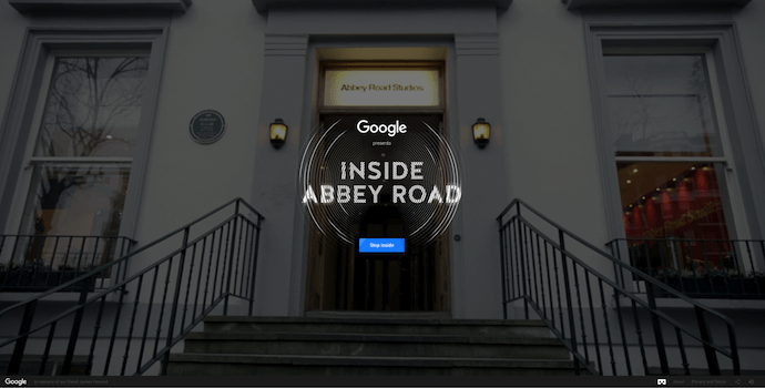 Página web de Inside Abbey Road, un sitio web premiado