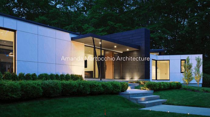 Página web de Amanda Martocchio Architecture, un sitio web de la compañía con bellas fotografías