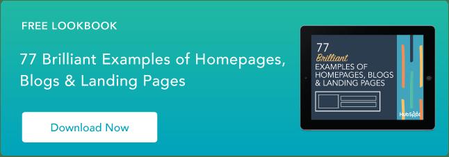 ejemplos de páginas de inicio, blogs y diseños de páginas de inicio