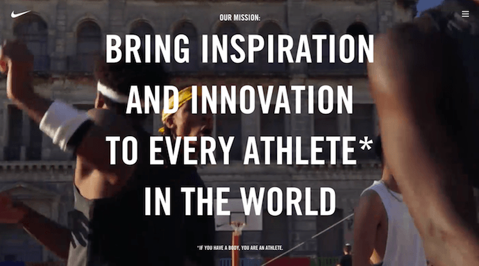 Nike about us page