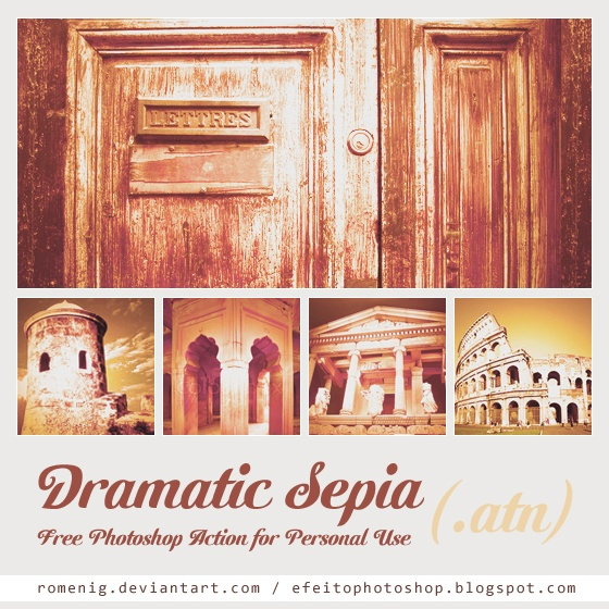 "Dramatic Sepia, un filtro de Photoshop "" title = ""Photoshop_Action_Sepia.jpg"