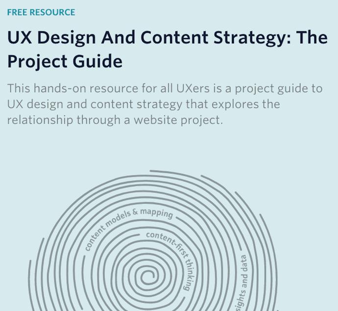 """Página del pilar sobre diseño UX y estrategia de contenido por GatherContent """"width ="""" 690 """"style ="""" width: 690px"""