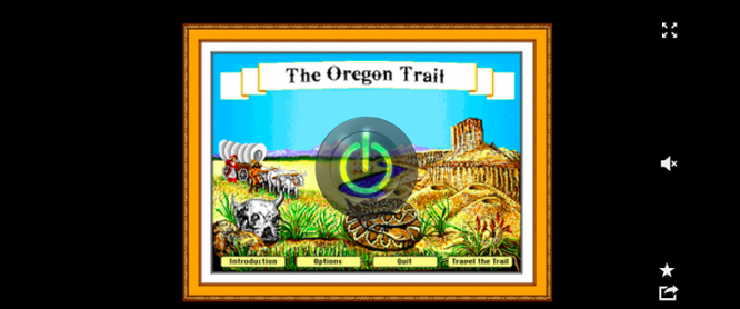 Vista previa del sitio web de Oregon Trail para juegos en línea