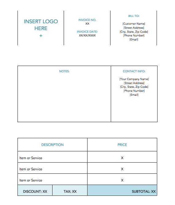 blue-minimal-standard-factura-template