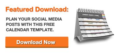 Plantilla gratuita Calendario de redes sociales