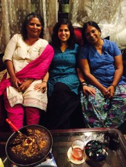 celebrating my birthday with my sheilamma and my amma. bangalore, india. july 2015.