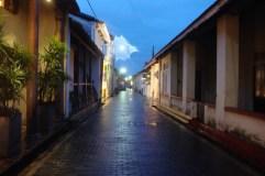 galle streets by night. galle, sri lanka. september 2015.
