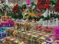 found a shop selling christmas decorations! bangalore, india. november 2015.