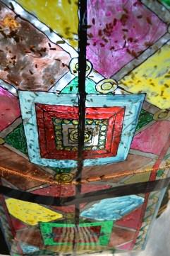 stained-glass artwork. calcutta, india. december 2015.