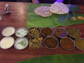 nandhini's delicious south indian meal. bangalore, india. february 2016.