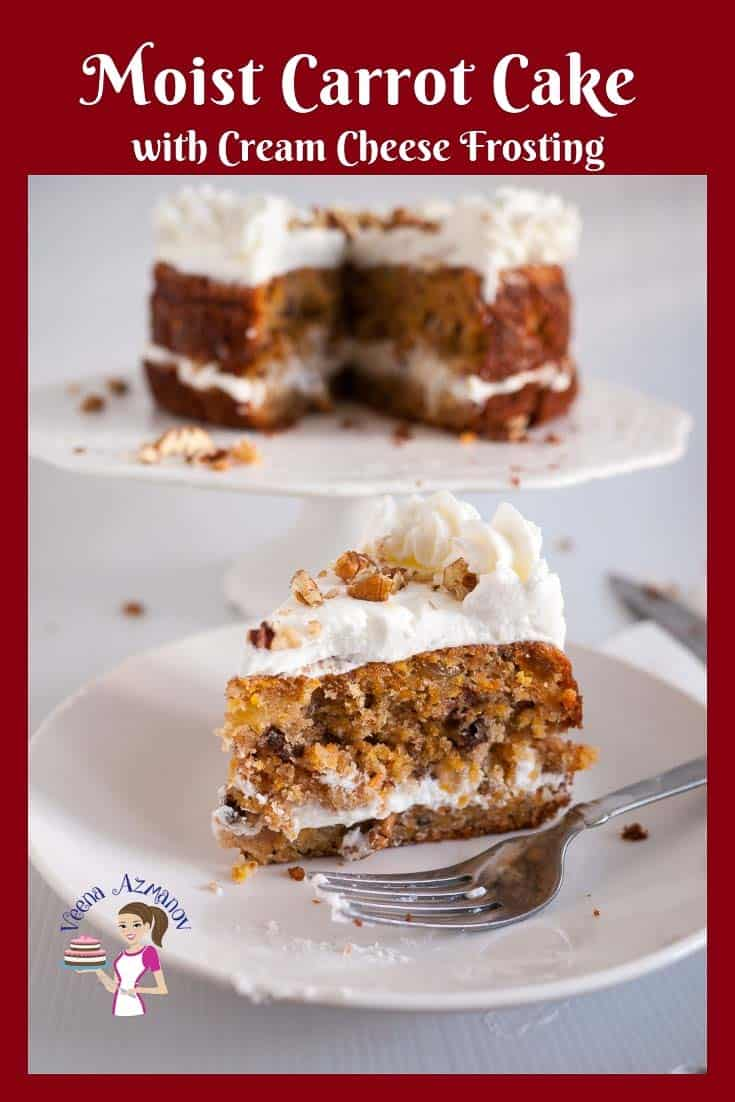 Moist Carrot Cake With Cream Cheese Frosting Veena Azmanov
