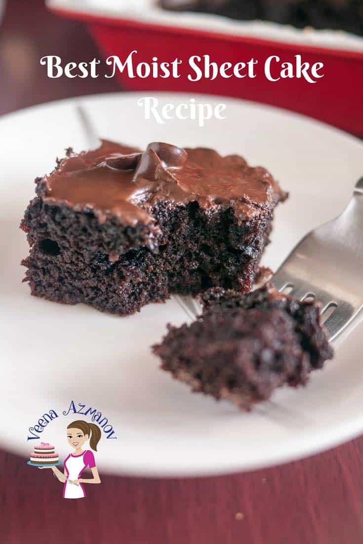 Best Moist Chocolate Sheet Cake Recipe Veena Azmanov