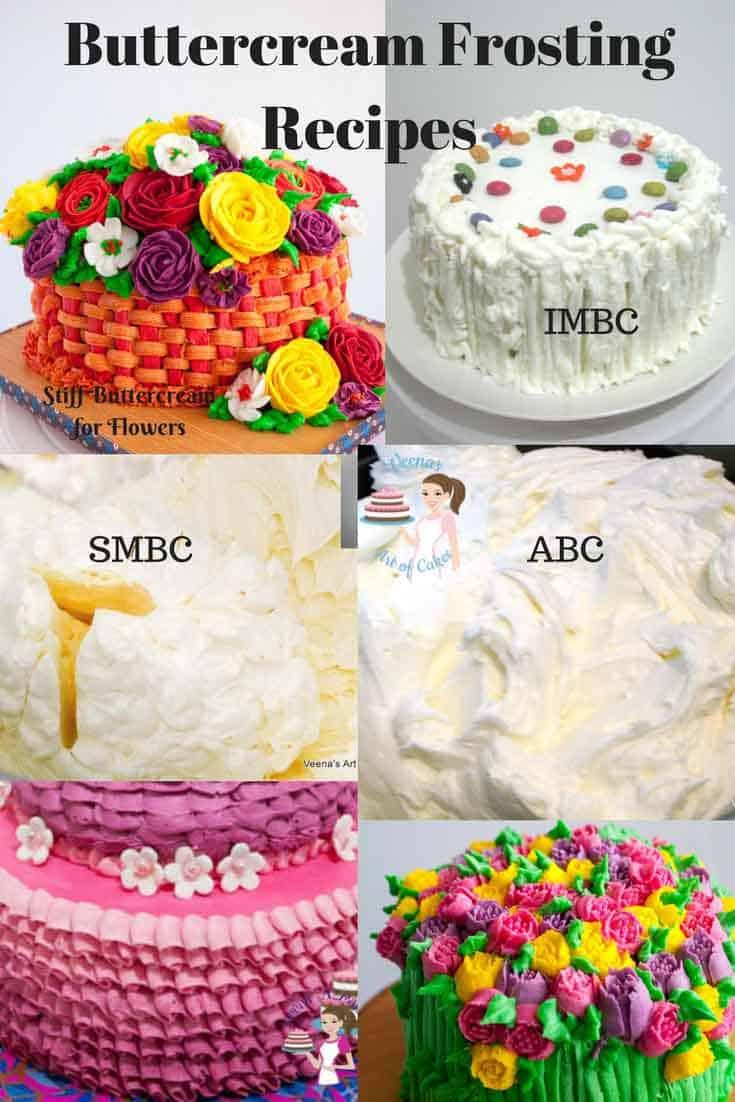 Stiff Buttercream frosting for cake decorating  Buttercream Flowers  Veena Azmanov