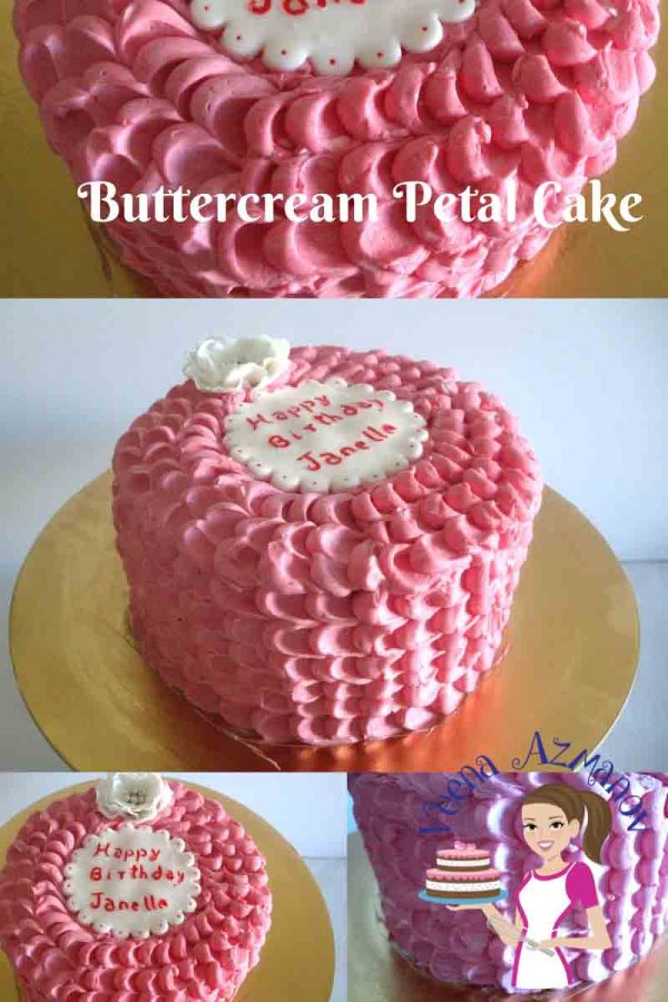 Buttercream Rose Petal Cake - Decorating Tutorial